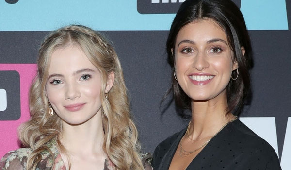 Freya Allan and Anya Chalotra on the IMDB Boat Party